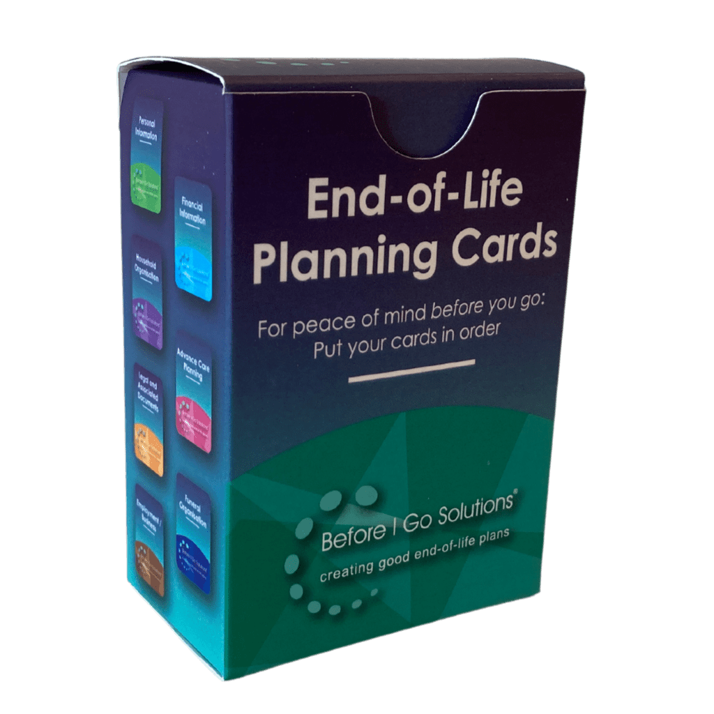 End of Life Planning cards box image