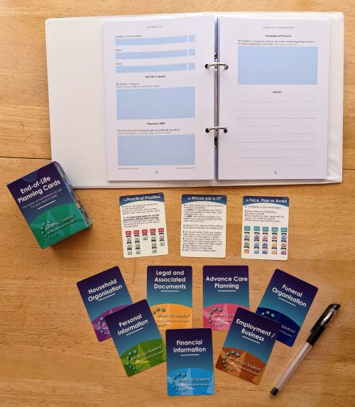 End of Life Planning Cards and Workbook bundle