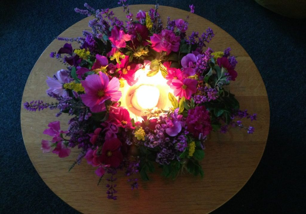 FlowersCandle